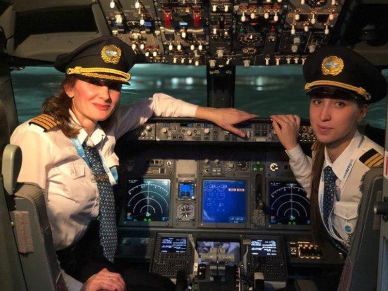نخستین پرواز هواپیمای روسی با خلبانان زن خبر ساز شد، عکس