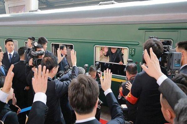 کاروان رهبر کره شمالی به چین رسید