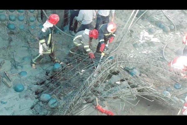 کارگر جوان درزیر آوار ساختمان جان باخت، انتها شش ساعت عملیات جستجو