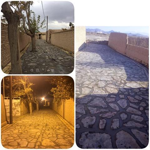 مسیر گردشگری قلعه سریزد مهریز مرمت و سنگفرش شد