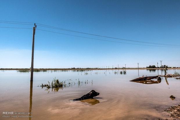 کدام مناطق خوزستان درگیر سیلاب شده اند؟