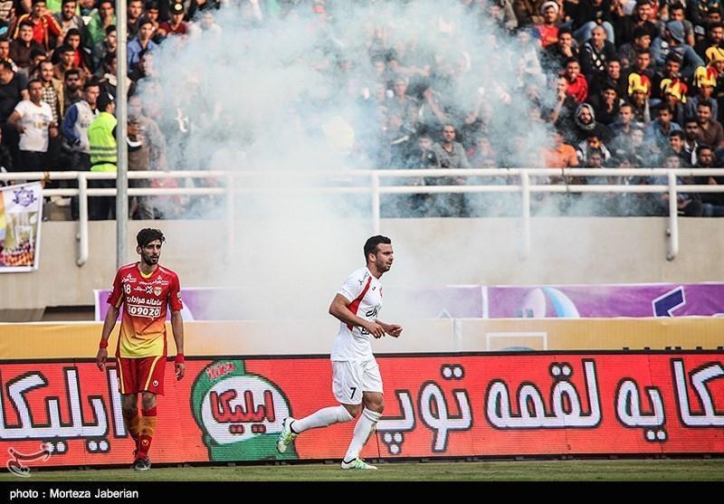 لیگ برتر فوتبال، فزونی فولاد خوزستان در نیمه نخست دیدار مقابل پرسپولیس