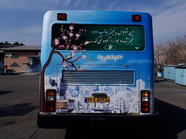 تردد اتوبوس هایی با چهره جدید در تهران