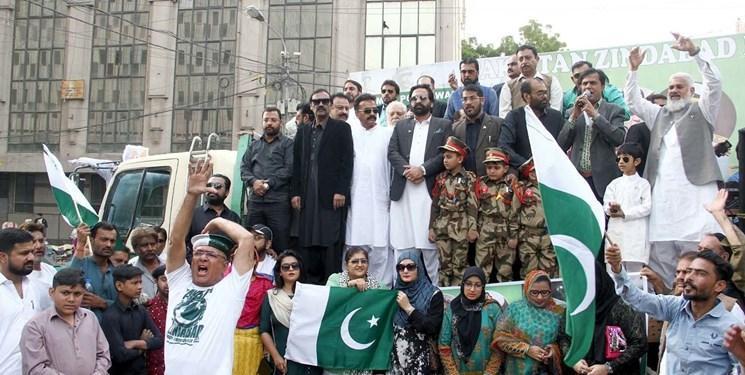 حمایت مردم پاکستان از ارتش برای دفاع در برابر هند