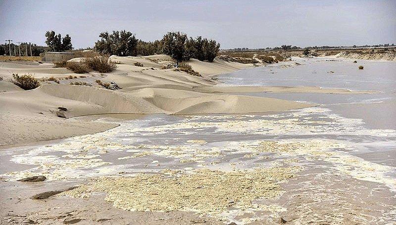 آب پس از 2 دهه به بخش های شمالی تالاب هامون وارد شد