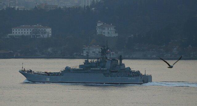 مانور دریایی مشترک روسیه و ترکیه در دریای سیاه