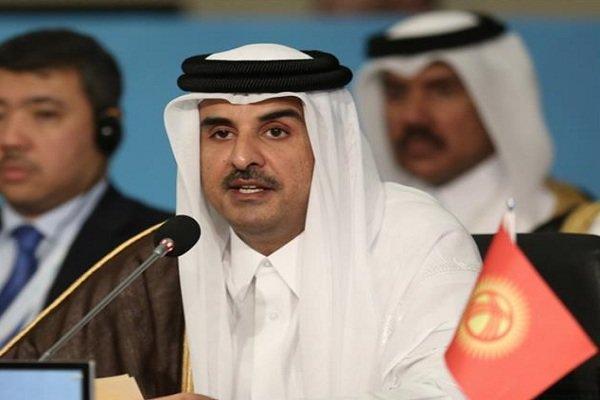دیدار امیر قطر با فرمانده نظامی آمریکایی