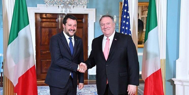 رایزنی های ضد ایرانی پامپئو با ماتئو سالوینی در واشنگتن