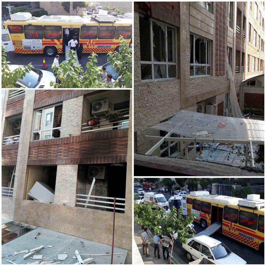 وقوع انفجار در ساختمان مسکونی در جنت آباد تهران