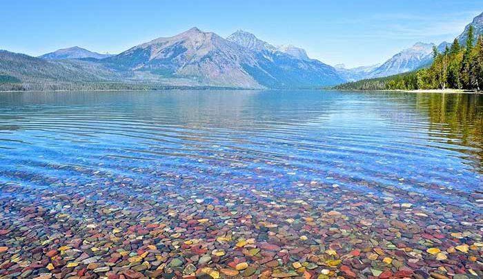 دریاچه های شفاف پارک ملی گلیشر ، تصاویر