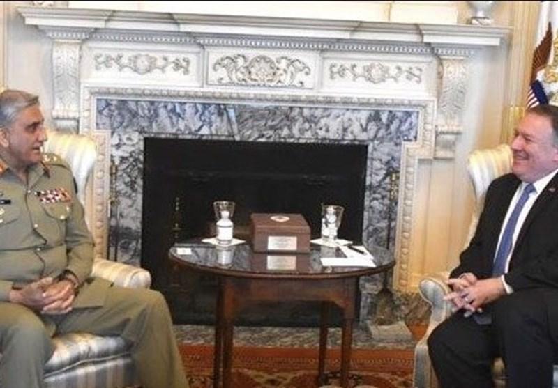ملاقات فرمانده ارتش پاکستان با وزیر خارجه آمریکا
