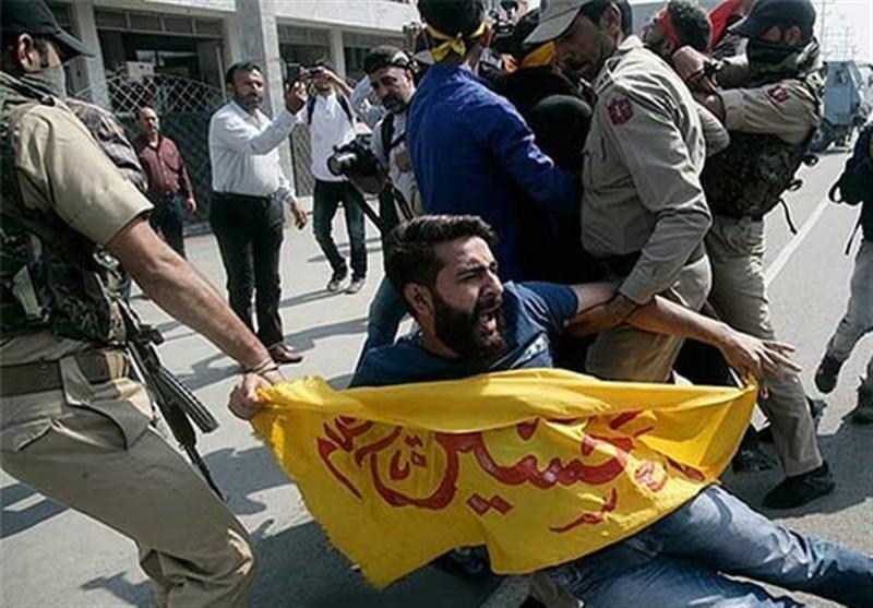 سرکوب شدید عزاداران حسینی در کشمیر توسط نظامیان هندی