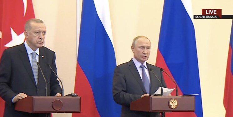اردوغان از توافق تاریخی ترکیه با روسیه درباره سوریه خبر داد