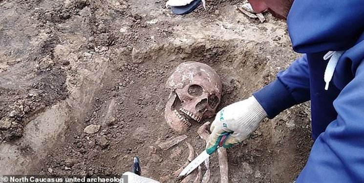 کشف اسکلت 2هزار ساله یک زن