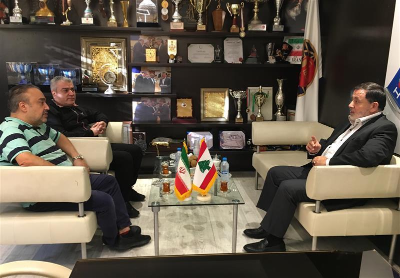 ملاقات اسکندری با رئیس فدراسیون بیلیارد و اسنوکر لبنان
