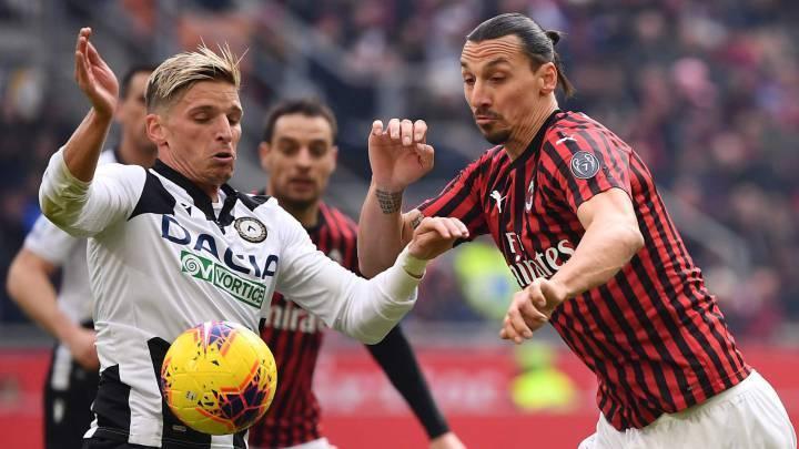 میلان 3-2 اودینزه؛ پیروزی روسونری در ثانیه آخر