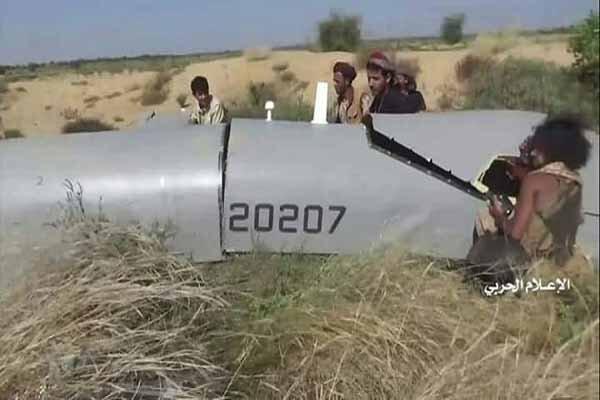 سرنگونی ششمین هواپیمای جاسوسی متجاوزان در جیزان