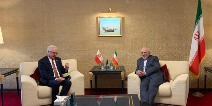 رایزنی وزرای خارجه لهستان و ایران در دوحه