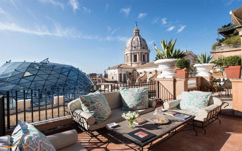 معرفی هتل گرند پلازا در رم ، 5 ستاره