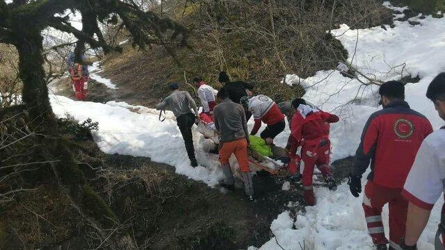 نجات یک کوهنورد رشتی در ارتفاعات ماسوله