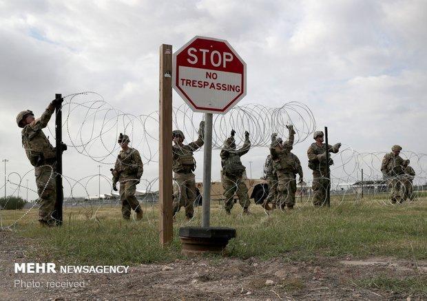 آمریکا 160 نیروی نظامی به مرز مکزیک می فرستد