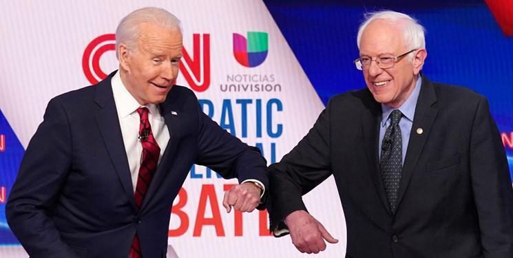 سندرز حمایت خود را از بایدن در انتخابات ریاست جمهوری آمریکا بیان کرد