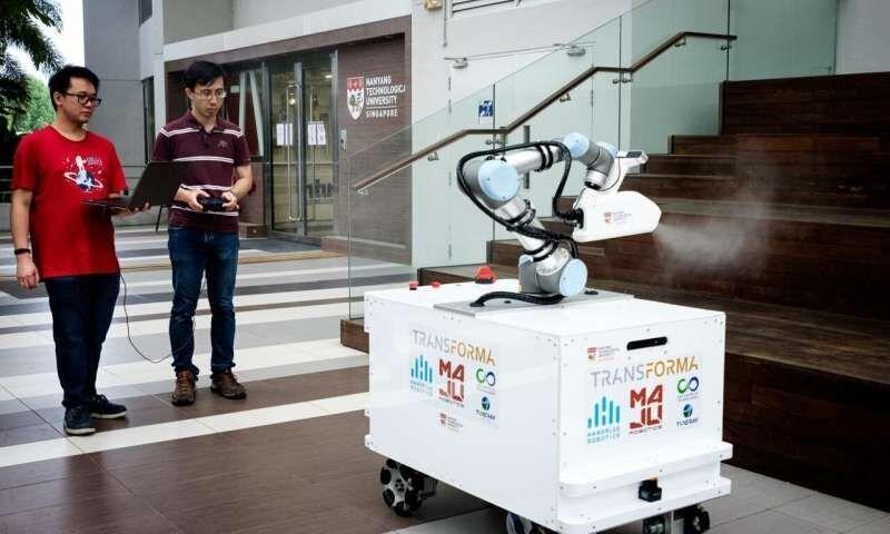 خبرنگاران ساخت ربات ضدعفونی کننده با سرعت بالا