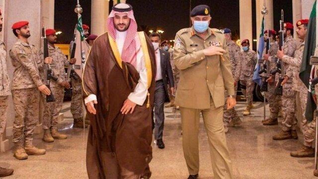 خودداری محمد بن سلمان از دیدار با رئیس ستاد مشترک ارتش پاکستان
