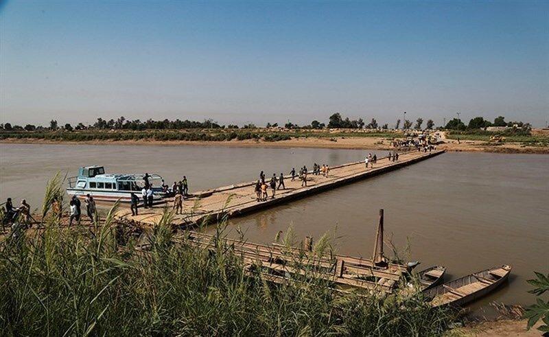 خبرنگاران تعمیر پل موقت عنافچه باوی توسط ارتش شروع شد