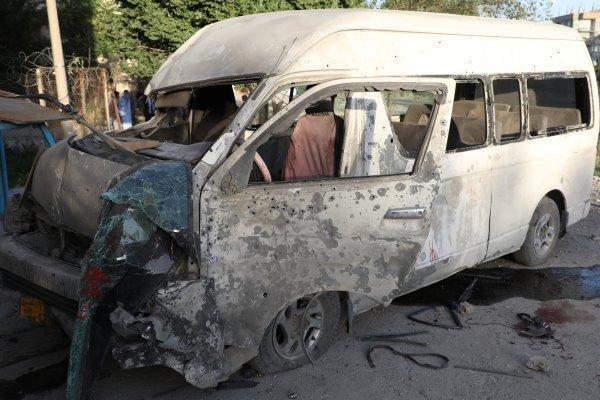 یک خودرو بمب گذاری شده در کابل منفجر شد