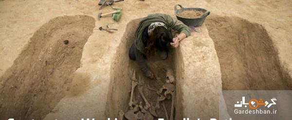 کشف یک گور باستانی در بازسازی پاسیوی یک خانه!