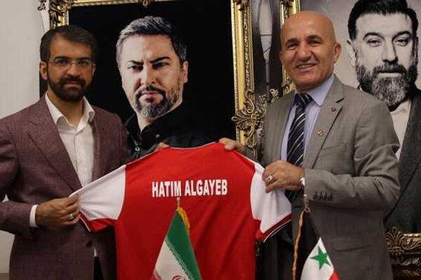 حضور رئیس فدراسیون فوتبال سوریه در باشگاه پرسپولیس