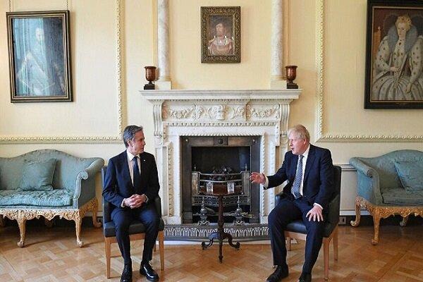 وزیر خارجه آمریکا با نخست وزیر انگلیس دیدار کرد