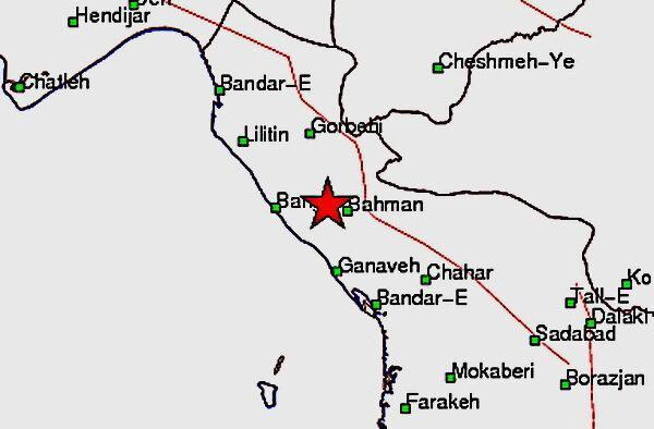 زلزله 5.2 ریشتری در نزدیکی گناوه